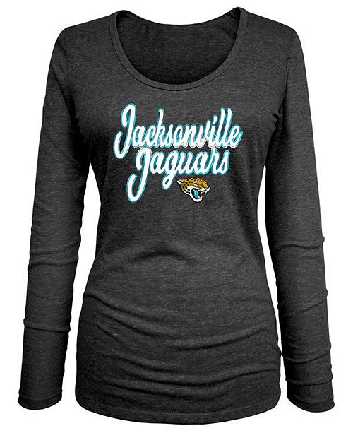 5th & Ocean Women's Jacksonville Jaguars Long Sleeve Triblend Foil T-Shirt