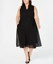 e99e75f405c Anne Klein Plus Size Drawstring Midi Dress