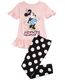 Disney Little Girls 2-Pc. Minnie Mouse Tunic & Leggings Set