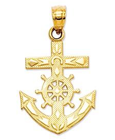 14k Gold Charm, Mariner's Cross Charm