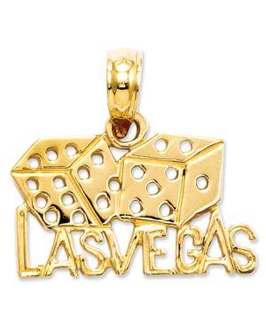 14k Gold Charm, Las Vegas Dice Charm