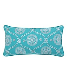 Home Mackenzie Teal Embroidered Pillow