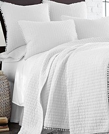 Home Pom Pom White Full/Queen Quilt