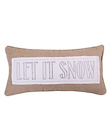Home Silent Night Let It Snow Pillow