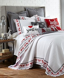 Home Rudolph Twin Quilt Set