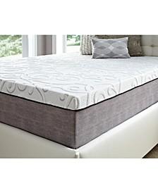 "14"" Comfort Loft Gray Rose with Ebonite California King Memory Foam and Comfort Choice, Soft"