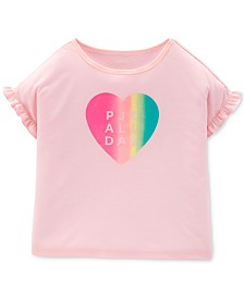 Carter's Little Girls Rainbow Heart Pajama Top