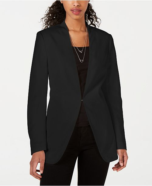 XOXO Juniors' Collarless Tie-Back Blazer