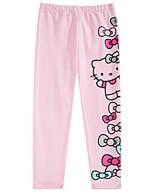 Hello Kitty Little Girls Bow-Print Leggings
