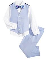102feb1c01b Nautica Little Boys 4-Pc. Diamond Oxford Vest Set