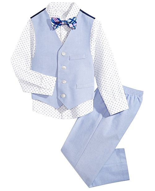 Nautica Little Boys 4-Pc. Diamond Oxford Vest Set