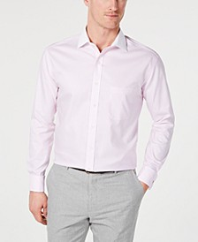 Men's Slim-Fit Non-Iron Supima Cotton Twill Bar Stripe French Cuff Dress Shirt, Created for Macy's