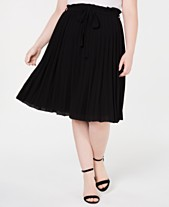 b6769db2a3f58 Monteau Trendy Plus Size Pleated Skirt
