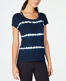 Ideology Tie-Dyed Stripe Top, Created for Macy's
