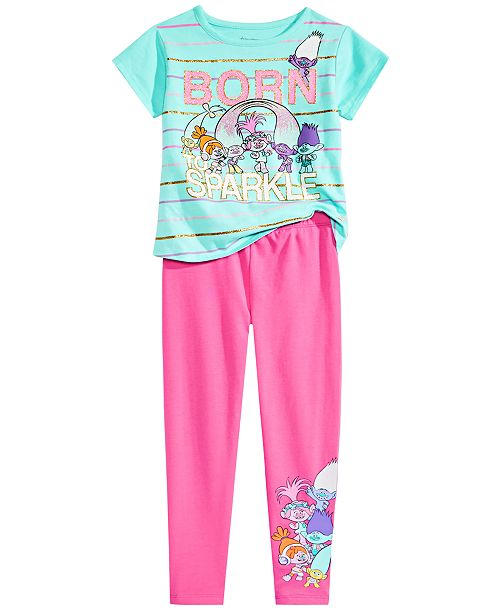 05c8c5541 Trolls by DreamWorks Toddler & Little Girls Graphic-Print T-Shirt and  Leggings