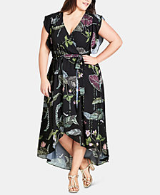 City Chic Trendy Plus Size Lily Pad Maxi Dress