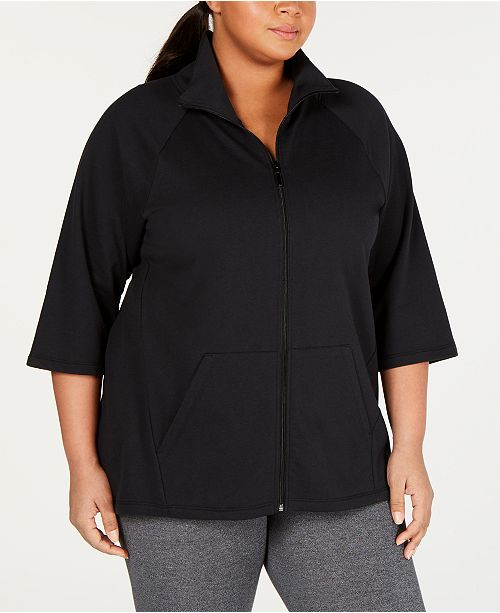Soffe Plus Size High-Low Active Jacket