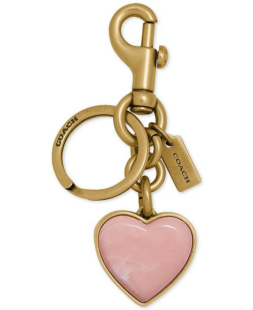 COACH Semi-Precious Stone Heart Bag Charm