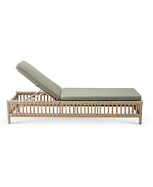 Lavena Outdoor Chaise Lounge With Sunbrella® Cushions, Created for Macy's
