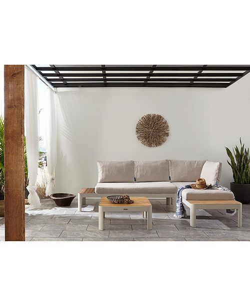 Modern Tropic Teak Outdoor Sofa, Created For Macy\'s