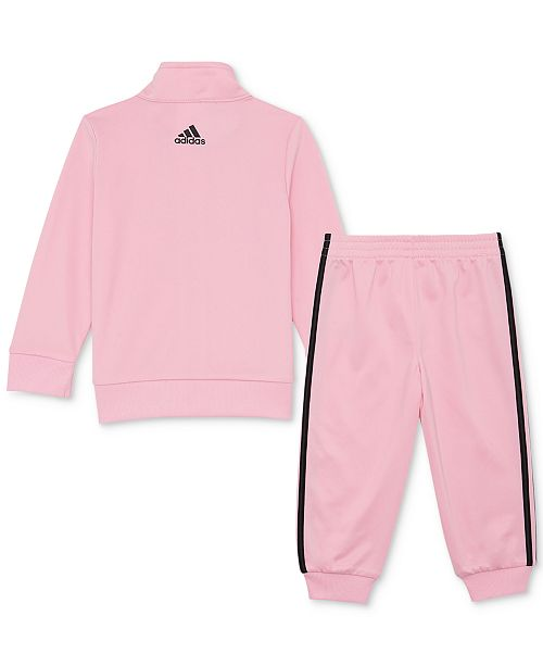 013b885655e adidas Baby Girls 2-Pc. Tricot Track Jacket & Jogger Pants Set ...