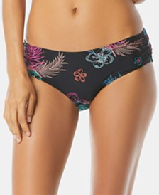 Coco Reef Printed Side-Shirred Bikini Bottoms