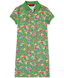 Polo Ralph Lauren Big Girls Floral-Print Stretch Polo Dress