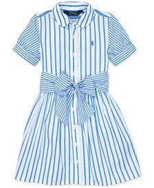 Toddler Girls Striped Cotton Shirtdress