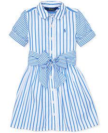 Polo Ralph Lauren Little Girls Striped Cotton Shirtdress