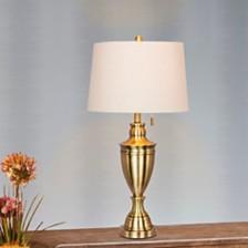 "Fangio Lighting's 1587AB 31"" Classic Urn Antique Table Lamp"