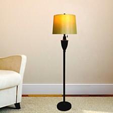 """Fangio Lighting's 1589BZ 61"""" Classic Urn Metal Floor Lamp"""