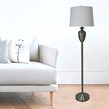 "1591BS 61"" Brushed Steel Decorative Urn Floor Lamp"