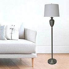 "Fangio Lighting's 1591BS 61"" Brushed Steel Decorative Urn Floor Lamp"