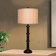 "1596ORB 31"" Metal Stacked Table Lamp"
