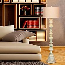 "6258 63"" Totemic Antique Resin Floor Lamp"