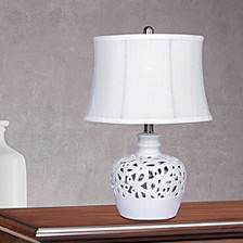 "8990 21"" Open Ceramic Table Lamp With Nightlight"