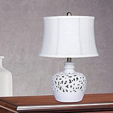 "Fangio Lighting's 8990 21"" Open Ceramic Table Lamp With Nightlight"