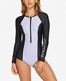 Volcom Colorblocked Long-Sleeve Swimsuit