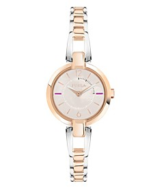 Women's Linda Rose Dial Stainless Steel Watch
