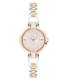 Furla Women's Linda Rose Dial Stainless Steel Watch