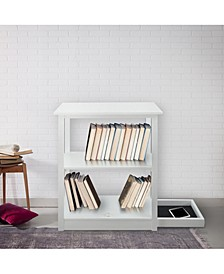 Adams 3 - Shelf Bookcase with Concealed Sliding Track, Concealment Furniture