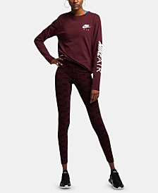 Nike Sportswear Logo-Print Leggings
