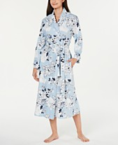 Charter Club Printed Soft Knit Cotton Long Robe 949eac419