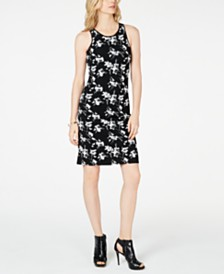 MICHAEL Michael Kors Flower-Printed Jacquard Tank Dress