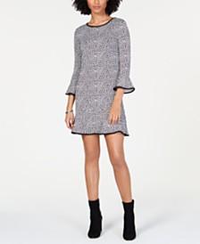 MICHAEL Michael Kors Printed Bell-Sleeve Dress, Regular & Petite