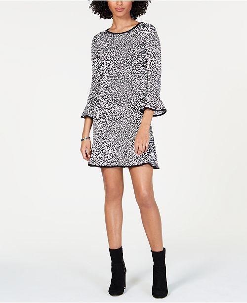 Michael Kors Printed Bell-Sleeve Dress, Regular & Petite