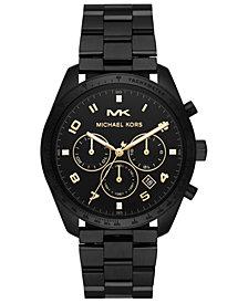 Michael Kors Men's Keaton Black Stainless Steel Bracelet Watch 43mm