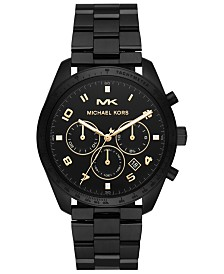 Michael Kors Men's Keaton Black Stainless Steel Bracelet Watch 43mm