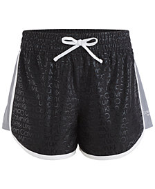 Calvin Klein Performance  Big Girls Logo-Print Dolphin-Hem Shorts