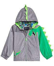 London Fog Little Boys Hooded Dinosaur Jacket